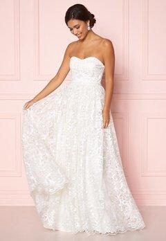 Moments New York Peony Wedding Gown White Bubbleroom.fi