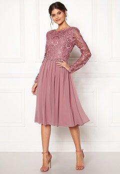Moments New York Primrose Crochet Dress Lilac Bubbleroom.fi