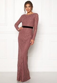 Moments New York Romy Lace Gown Old rose Bubbleroom.fi
