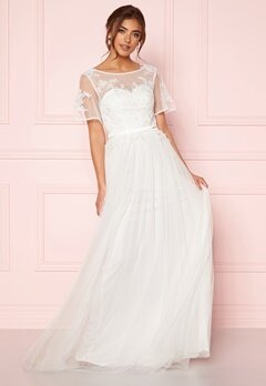 Moments New York Rosalie Wedding Gown White Bubbleroom.fi