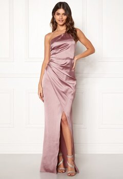 Moments New York Rosemary Satin Gown Lilac Bubbleroom.fi