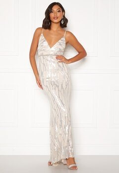 Moments New York Samantha Sequin Gown Champagne Bubbleroom.fi