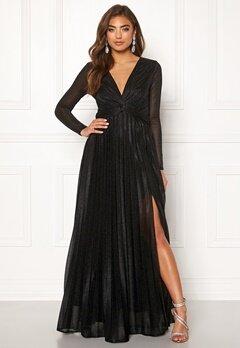 Moments New York Sienna Lurex Gown Black Bubbleroom.fi