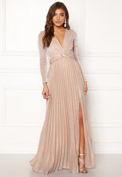 Moments New York Sienna Lurex Gown Champagne Bubbleroom.fi
