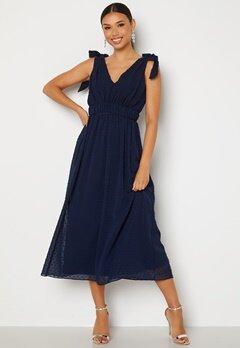Moments New York Theodora Dotted Dress Dark blue bubbleroom.fi
