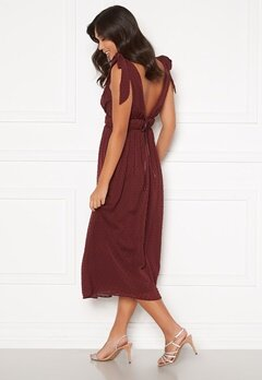 Moments New York Theodora Dotted Dress Wine-red Bubbleroom.fi