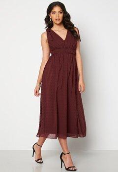Moments New York Theodora Dotted Dress Wine-red Bubbleroom.fi