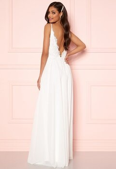 Moments New York Vanessa Wedding Gown White Bubbleroom.fi