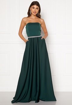 Moments New York Victoria Satin Gown Emerald green Bubbleroom.fi