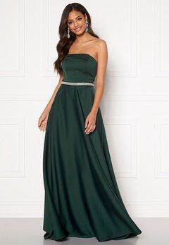 Moments New York Victoria Satin Gown Emerald green Bubbleroom.fi