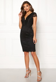Moments New York Viola Lace Dress Black Bubbleroom.fi