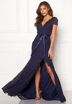 Moments New York Viola Lace Gown Dark blue Bubbleroom.fi