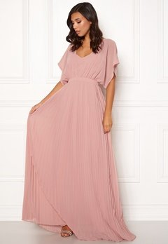 Moments New York Violet Chiffon Gown Dusty pink Bubbleroom.fi