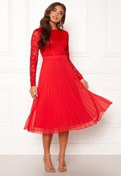 Moments New York Zaria Pleated Dress Red Bubbleroom.fi