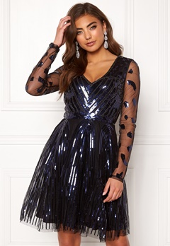 Moments New York Dana Beaded Dress  Black Bubbleroom.fi