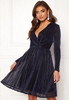 Moments New York Poppy Sparkle Dress Navy Bubbleroom.fi