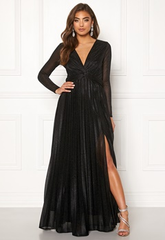 Moments New York Sienna Lurex Gown Black Bubbleroom.fi
