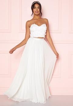 Moments New York Zaria Pleated Skirt White Bubbleroom.fi