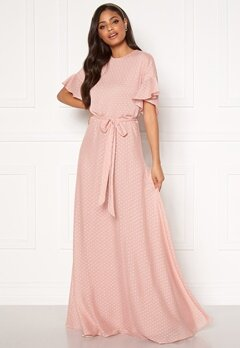 Moments New York Maja Dotted Gown Pink Bubbleroom.fi