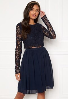 Moments New York Elinore Crochet Dress  Navy Bubbleroom.fi