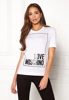Love Moschino Moschino T-shirt Optical White Bubbleroom.fi