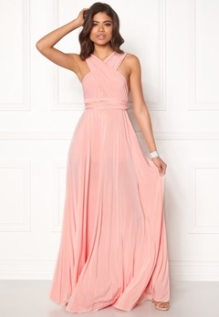 Goddiva Multi Tie Maxi Dress Oyster Bubbleroom.fi