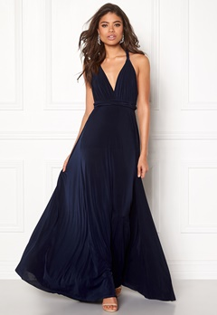 Goddiva Multi Tie Maxi Dress Navy Bubbleroom.fi