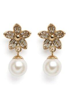 Dyrberg/Kern Nanda Earrings White Bubbleroom.fi