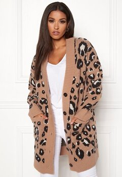 New Look Animal Cardigan Brown Pattern Bubbleroom.fi