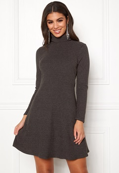 New Look Brushed Roll Neck Dress Mid Grey Bubbleroom.fi