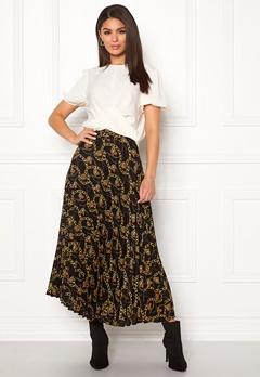New Look Chain Print Pleat Skirt Black Pattern Bubbleroom.fi