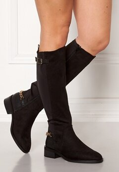 New Look Chain Riding Boots Black Bubbleroom.fi