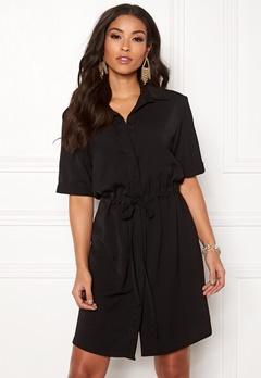 New Look Drawstring Shirt Dress Black Bubbleroom.fi