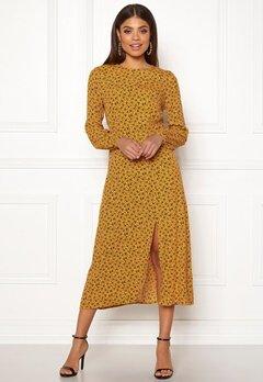 New Look Floral Split Mid Dress Yellow Pattern Bubbleroom.fi