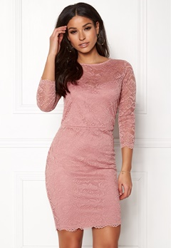 New Look Go Floral Lace Bodycon Shell Pink Bubbleroom.fi
