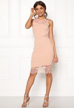 New Look Go Jen Lace Bodycon Dress Shell Pink Bubbleroom.fi