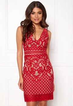 New Look Go Lace Contrast Bcon Red Bubbleroom.fi