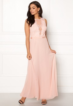 New Look Lace Chiffon Maxi Dress Pink Bubbleroom.fi