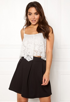 New Look Lace Hanky Crop Cream Bubbleroom.fi
