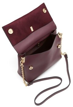 New Look Matilda Metal Handle Bag Dark Burgundy Bubbleroom.fi