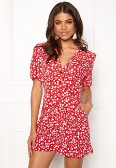 New Look Mi Ditsy playsuit red Pattern Bubbleroom.fi