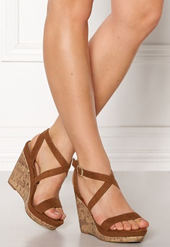 New Look Oiler Wedge Sandal Tan Bubbleroom.fi
