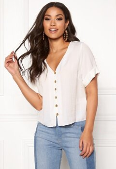 New Look Penny Button Shirt Off White Bubbleroom.fi