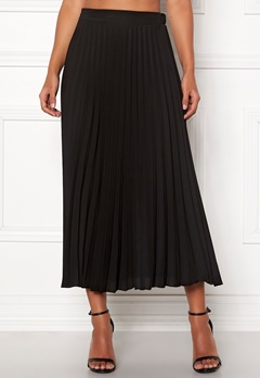 New Look Plain Pleated Midi Skirt Black Bubbleroom.fi