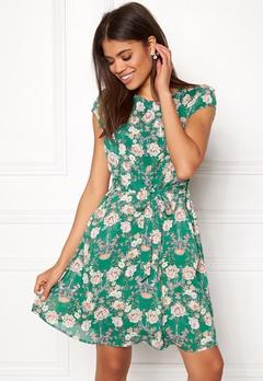New Look Print Chiffon Dress Green Pattern Bubbleroom.fi