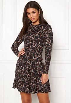 New Look Print L S Flower Dress Black Pattern Bubbleroom.fi 9ca183737c