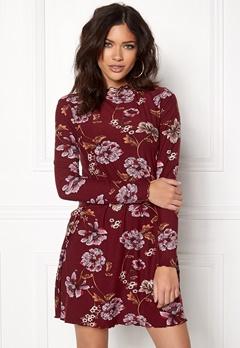 New Look Print Swing Dress Red Pattern Bubbleroom.fi