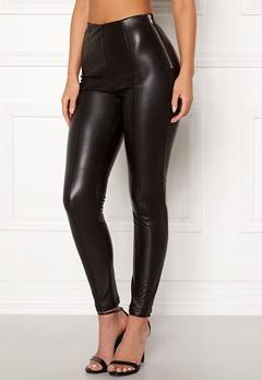 New Look PU Leggings Black Bubbleroom.fi