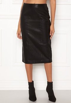 New Look PU Pencil Skirt Black Bubbleroom.fi