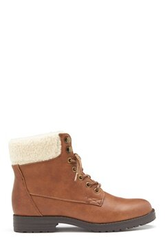 New Look PU Shearling Lace up Boot Tan Bubbleroom.fi